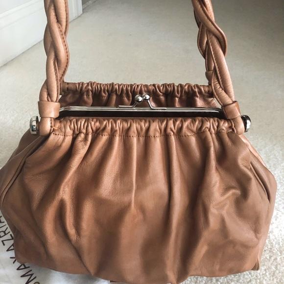 BCBGMaxAzria Handbags - BCBGMAXAZRIA Tan Leather Shoulder bag